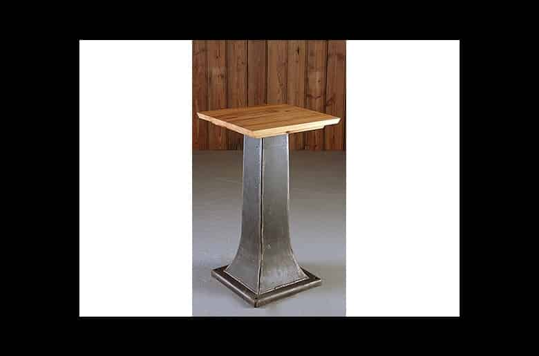 Small Industrial Pedestal Table